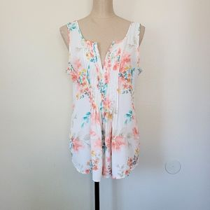 Sanctuary sleeveless floral top S